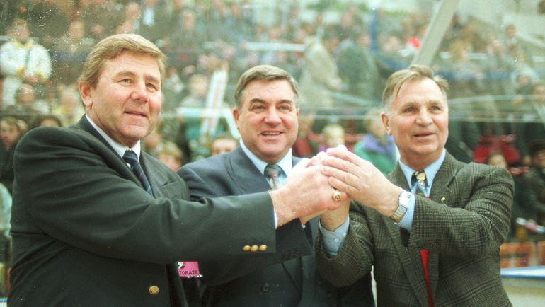 1996 год. Геннадий ЦЫГУРОВ, Владимир ВАСИЛЬЕВ и Виктор ТИХОНОВ (слева направо). Фото Анатолий БОЧИНИН