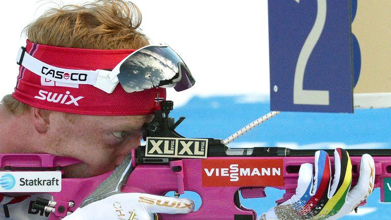 Пятница. Рупольдинг. Победитель мужской спринтерской гонки Йоханнес БЕ. Фото AFP