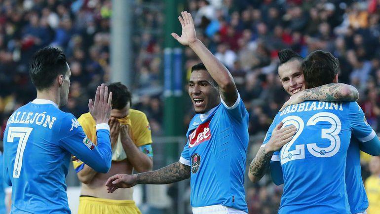 """Вчера. Фрозиноне. """"Фрозиноне"""" - """"Наполи"""" - 1:5. Неаполитанцев было не остановить. Фото AFP"""