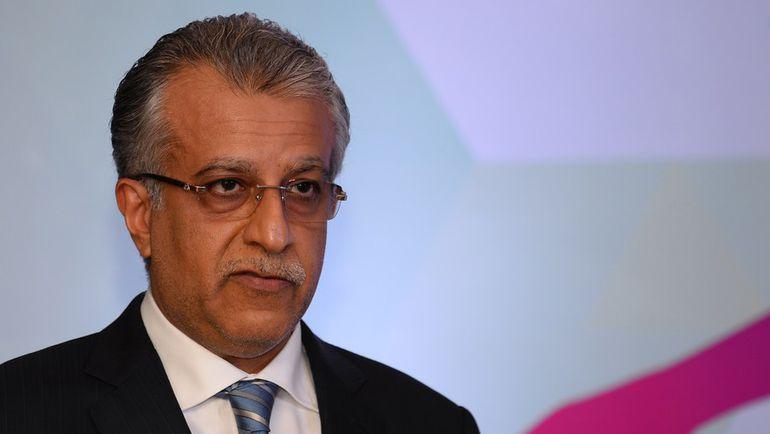 Кандидат на пост президента ФИФА Шейх Салман БИН ИБРАХИМ АЛЬ-ХАЛИФА. Фото AFP