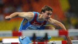 Чемпион мира в беге на 110 метров с барьерами Сергей ШУБЕНКОВ.
