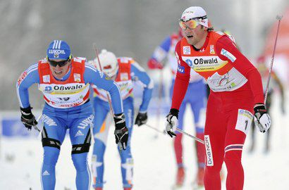 """Вылегжанин - в одной десятой секунды от лидера """"Тур де ски"""" Фото «СЭ»"""