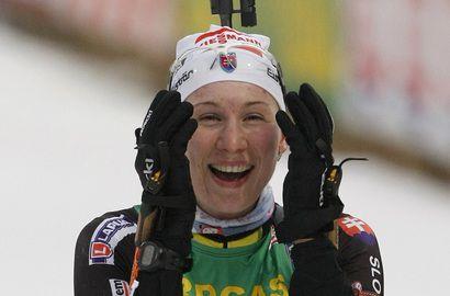 Олимпийская чемпионка в спринте Анастасия КУЗЬМИНА. Фото REUTERS Фото «СЭ»