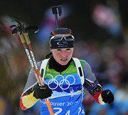 """Андреа ХЕНКЕЛЬ в эстафетной гонке. Фото AFP Фото """"СЭ"""""""