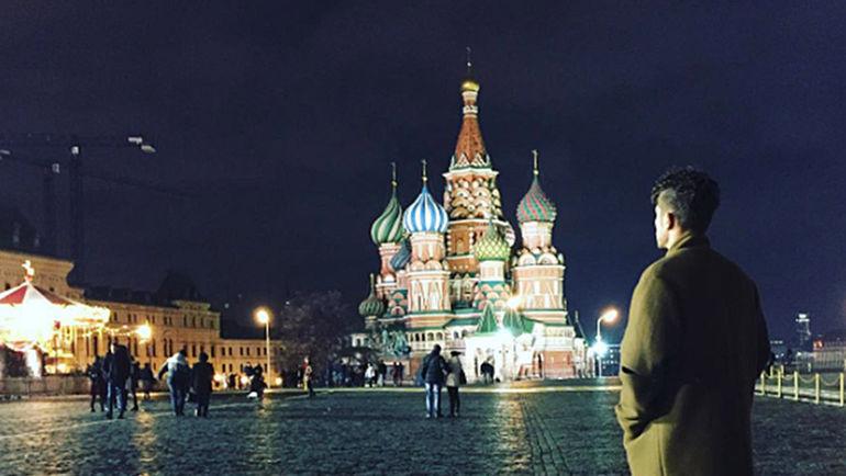 Декабрь 2015 года. Москва. Роман НОЙШТЕДТЕР на Красной площади. Фото instagram.com