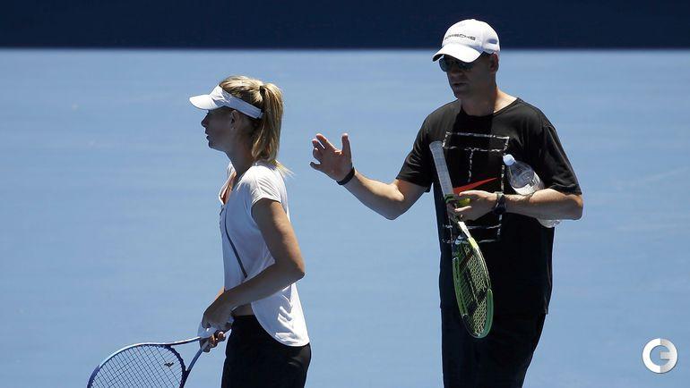 17 января. Australian Open. Мария ШАРАПОВА и ее тренер.