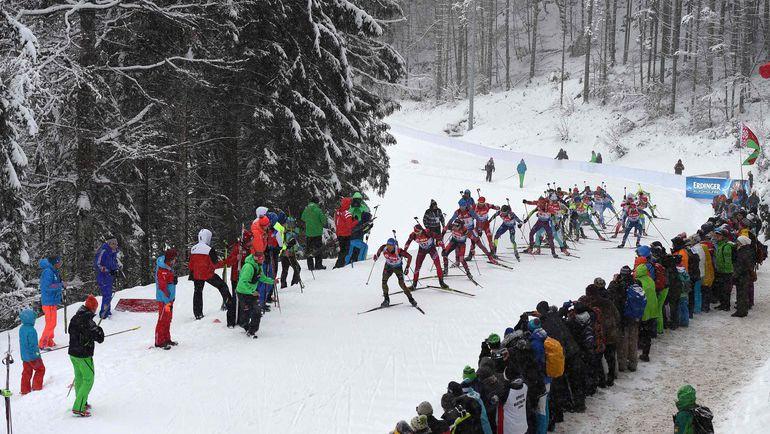 В мужской эстафете в Рупольдинге россияне стали вторыми, в женской - четвертыми. Фото AFP