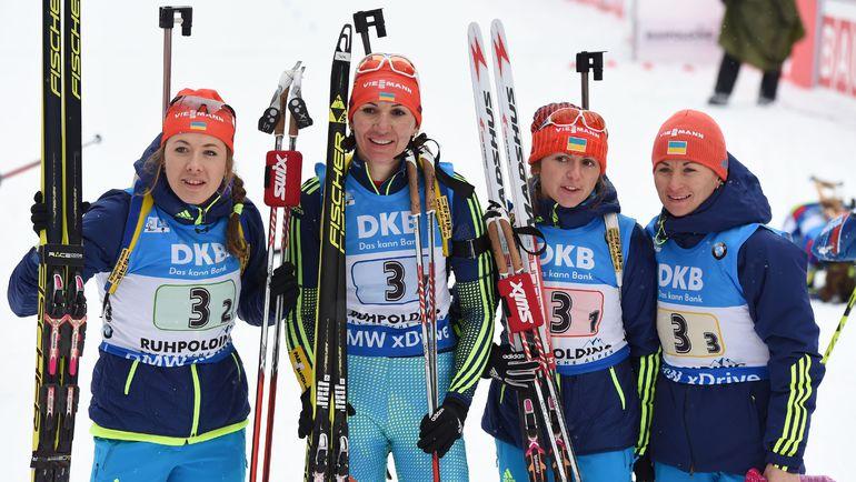 Воскресенье. Рупольдинг. Женская эстафета. Сборная Украины - победитель гонки.