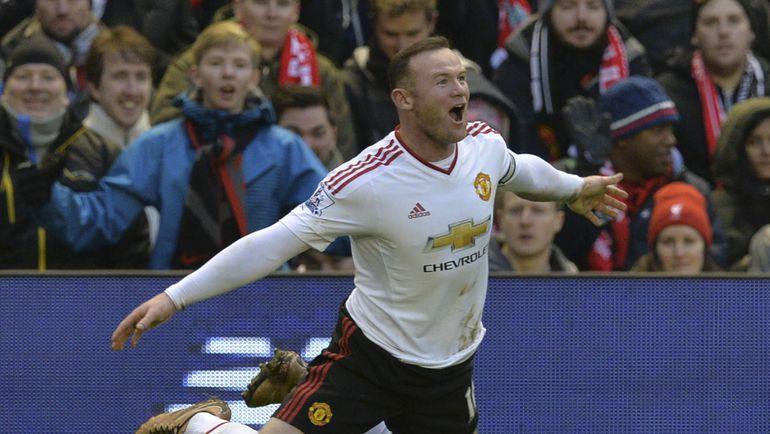 """Воскресенье. Ливерпуль. """"Ливерпуль"""" – """"Манчестер Юнайтед"""" - 0:1. 78-я минута. Уэйн РУНИ празднует победный гол. Фото Reuters"""