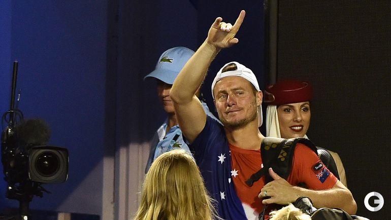 21 января 2016. Мельбурн. Ллейтон Хьюитт прощается с большим теннисом.