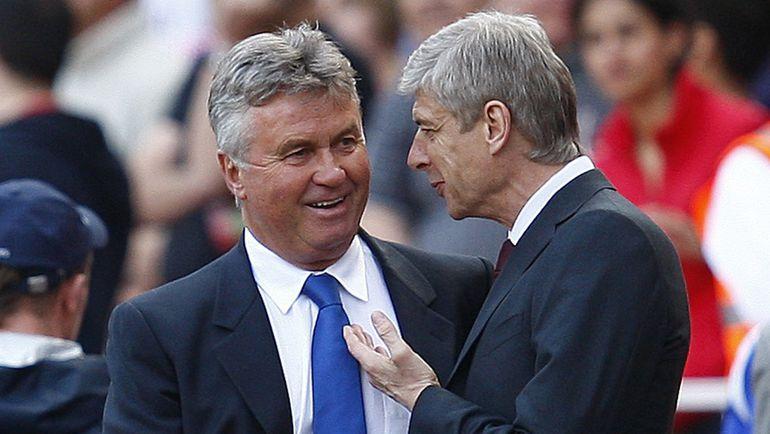 Гус ХИДДИНК (слева) и Арсен ВЕНГЕР вновь будут противостоять друг другу в матче английской премьер-лиги. Фото AFP