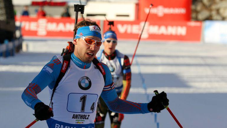 Сегодня. Антерсельва. Победный финиш Антона ШИПУЛИНА. Фото AFP