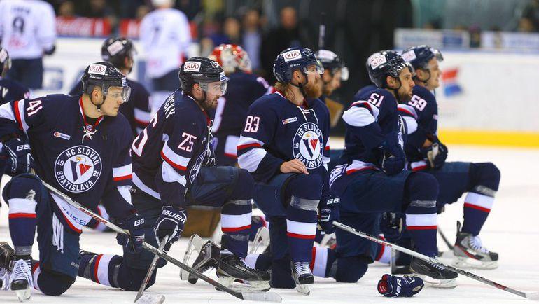"""Вряд ли что-то может помешать """"Словану"""" во второй раз за четырехлетнюю историю выступлений в КХЛ попасть в плей-офф. Фото ХК """"Слован"""""""