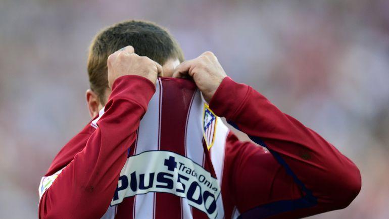 """Воскресенье. Мадрид. """"Атлетико"""" - """"Севилья"""" - 0:0. Реакция Антуана ГРИЗМАННА на упущенный момент. Фото AFP"""