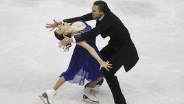 Сегодня. Братислава. Екатерина БОБРОВА и Дмитрий СОЛОВЬЕВ исполняют короткий танец.