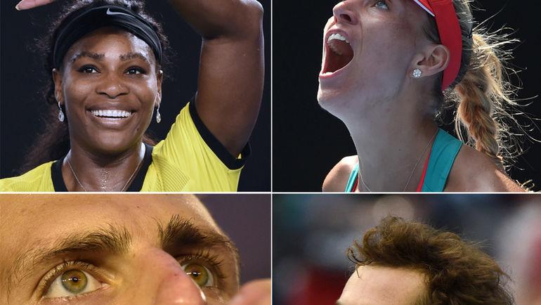 Серена Уильмс, Ангелик Кербер, Новак Джокович и Энди Маррэй - финалисты Australian Open 2016.