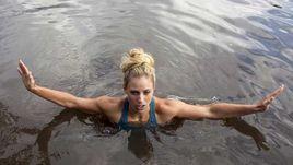 После победы в Мельбурне Кербер искупалась в реке