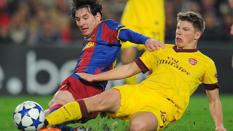 """Андрей АРШАВИН (справа) был близок к переходу в """"Барселону"""" Лионеля МЕССИ во время Euro-2008. Фото AFP"""