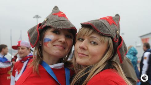 Болельщики на Олимпиаде в Сочи
