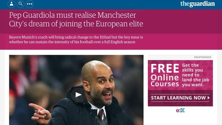 The Guardian о Гвардьоле. Фото «СЭ»