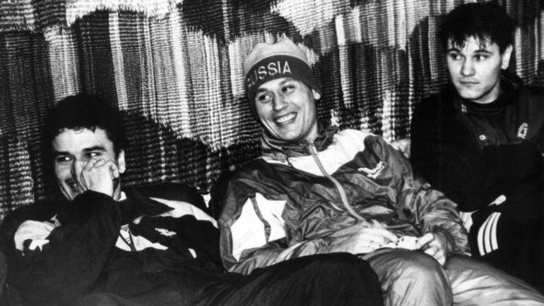 Юрий НИКИФОРОВ (слева), Илья ЦЫМБАЛАРЬ и Дмитрий АЛЕНИЧЕВ. Фото Юрий ШИРОКОГОРОВ