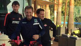 Сегодня. Марбелья. Егор ТИТОВ, Андрей ТИХОНОВ и Дмитрий АЛЕНИЧЕВ (слева направо) на тренировке