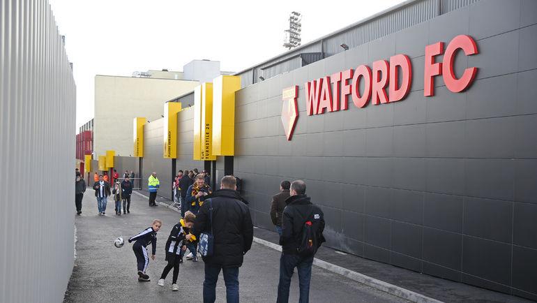 "Стадион ""Викаридж Роуд"" в Уотфорде. Фото Reuters"