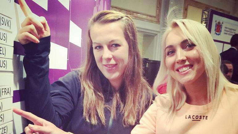 Сегодня. Санкт-Петербург. Анастасия ПАВЛЮЧЕНКОВА и Елена ВЕСНИНА. Фото WTA