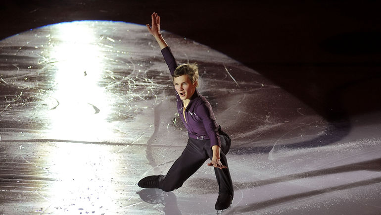 Михаил КОЛЯДА во время показательных выступлений на чемпионате России в Екатеринбурге. Фото Ксения НУРТДИНОВА