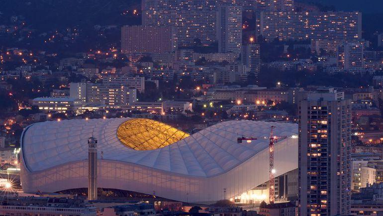 """Вид на стадион """"Велодром"""" в Марселе, где 11 июня сборная России стартует на Euro матчем с Англией. Фото AFP"""