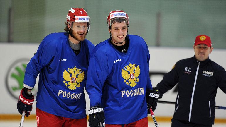 Игроки сборной России Иван ТЕЛЕГИН (слева) и Артем АЛЯЕВ. Фото Алексей ИВАНОВ, «СЭ»