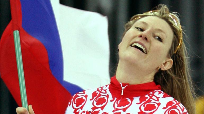 14 февраля 2006 года. Турин. Светлана ЖУРОВА - олимпийская чемпионка! Фото AFP