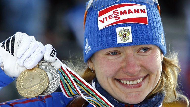 14 февраля 2008 года. Эстерсунд. Чемпионка мира Екатерина ЮРЬЕВА. Фото Reuters