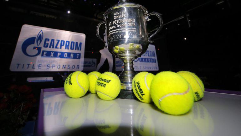 Кубок за победу в St. Petersburg Ladies Trophy. Фото wta.formulatx.com
