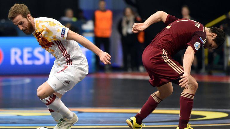 13 февраля. Белград. Россия - Испания - 3:7. Несмотря на все старания игроков нашей команды, финал остался за соперниками. Фото AFP