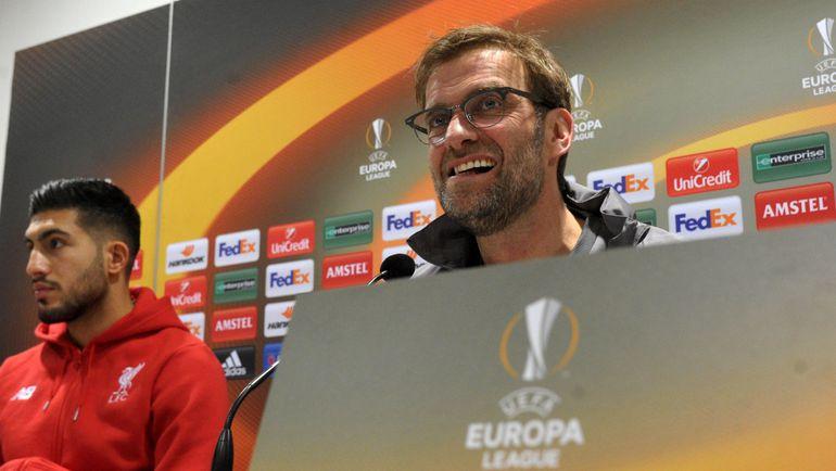 Пожертвует ли Юрген КЛОПП (справа) Лигой Европы ради английских турниров? Фото AFP