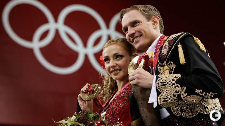 20 февраля 2006 года. Турин. Татьяна НАВКА и Роман КОСТОМАРОВ - олимпийские чемпионы.