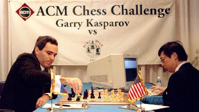 1996 год. Гарри КАСПАРОВ побеждает Deep Blue. Фото АР
