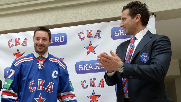 Илья КОВАЛЬЧУК и Роман РОТЕНБЕРГ. Фото photo.khl.ru