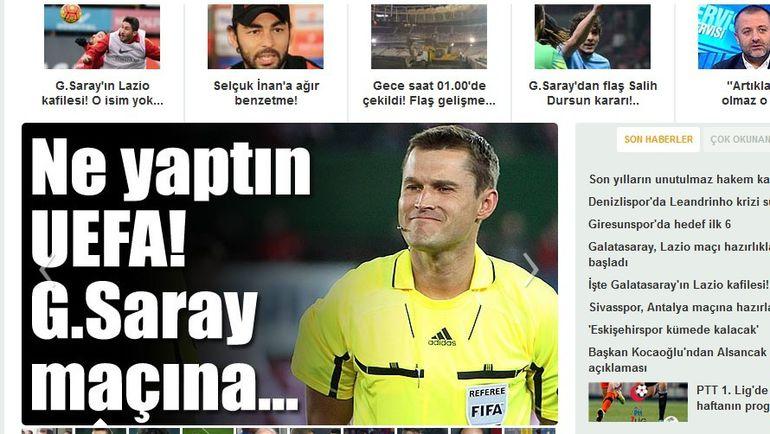 Заглавная страница ведущего турецкого издания Milliyet.