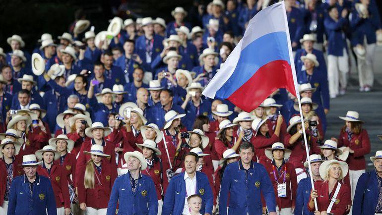 27 июля 2012 года. Лондон. Делегация олимпийской сборной России на открытии Игр-2012. В Рио-де-Жанейро не все российские атлеты смогут выступать под триколором. Фото Reuters