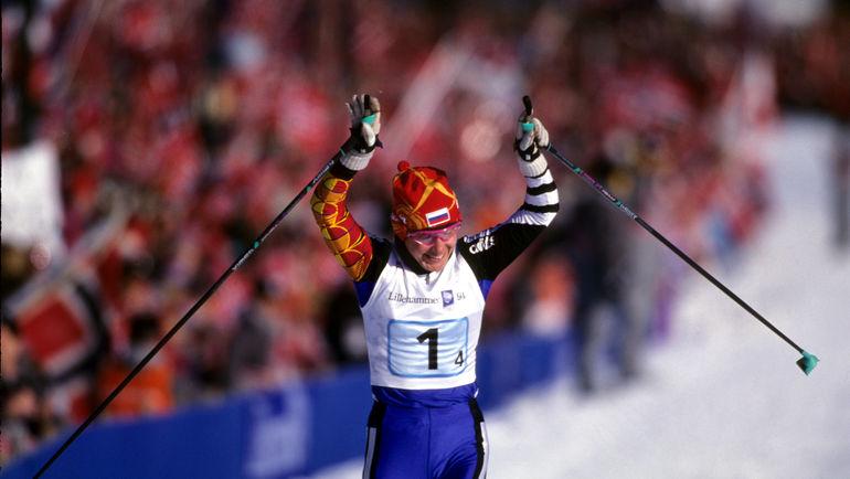 Любовь ЕГОРОВА на Олимпиаде-1994 в Лиллехаммере. Фото Андрей ГОЛОВАНОВ и Сергей КИВРИН, «СЭ»