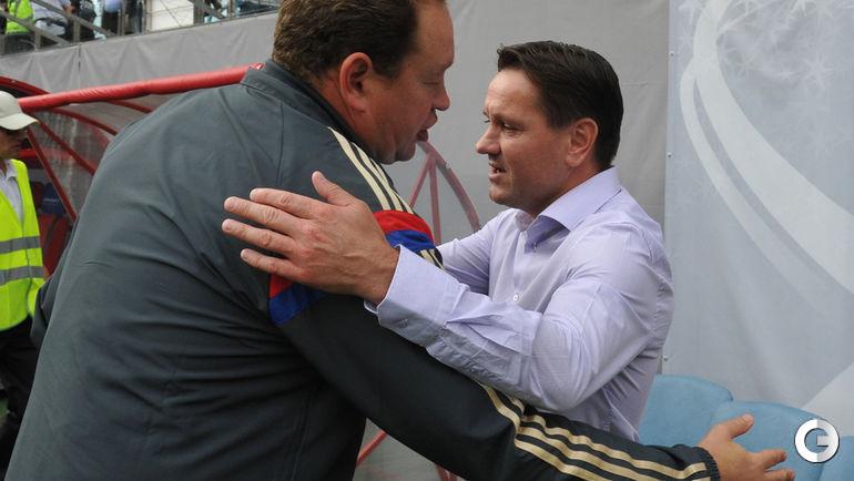 Дмитрий АЛЕНИЧЕВ (справа) и Леонид СЛУЦКИЙ.