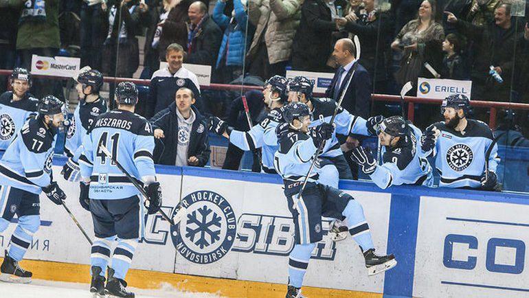 """""""Сибирь"""" идет дальше в плей-офф. Фото ХК """"Сибирь"""""""