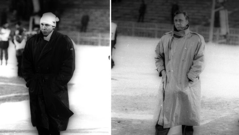 Олег РОМАНЦЕВ и Йохан КРОЙФ. Фото Дмитрий СОЛНЦЕВ