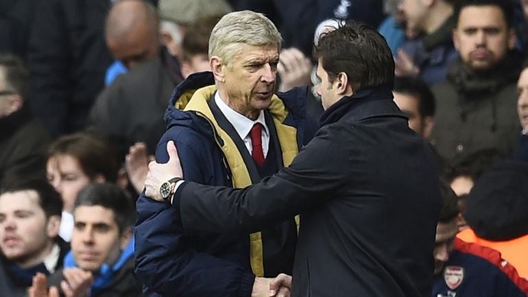"""Воскресенье. Лондон. """"Тоттенхэм"""" – """"Арсенал"""" – 2:2. Арсен ВЕНГЕР и Маурисио ПОКЕТТИНО."""