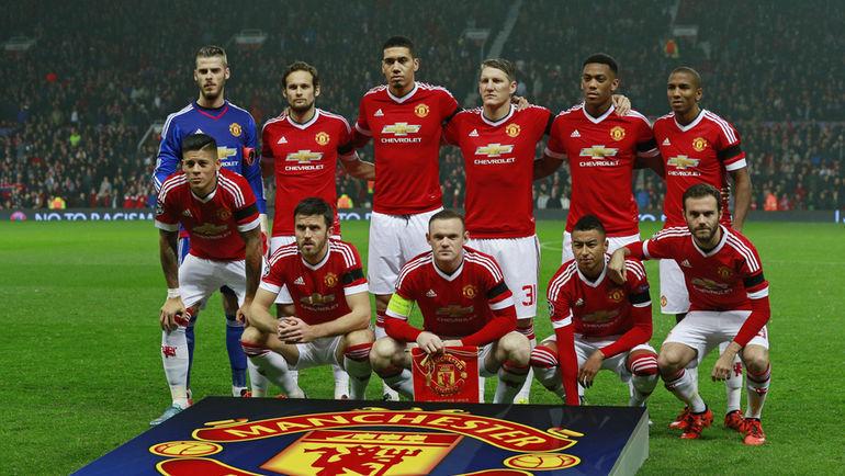 """Предматчевое фото """"Манчестер Юнайтед"""". Фото Reuters"""