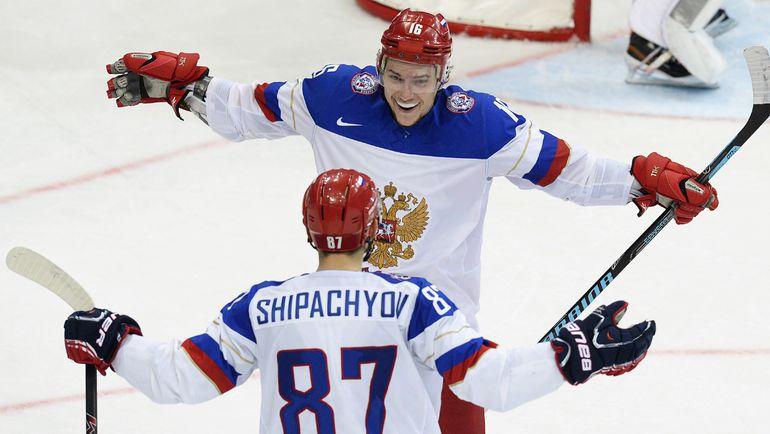 Сергей ПЛОТНИКОВ и Вадим ШИПАЧЕВ в золотом Минске-2014. Фото AFP