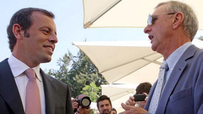 Сандро РОССЕЛЬ и Йохан КРОЙФ. Фото Reuters