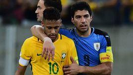 Пятница. Ресифи. Бразилия – Уругвай – 2:2. НЕЙМАР и Луис СУАРЕС покидают поле.